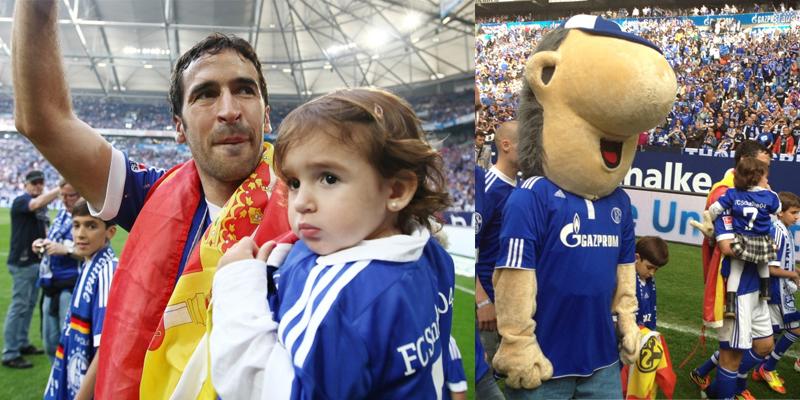 Verabschiedung von Raúl im Juli 2013 Auf Schalke